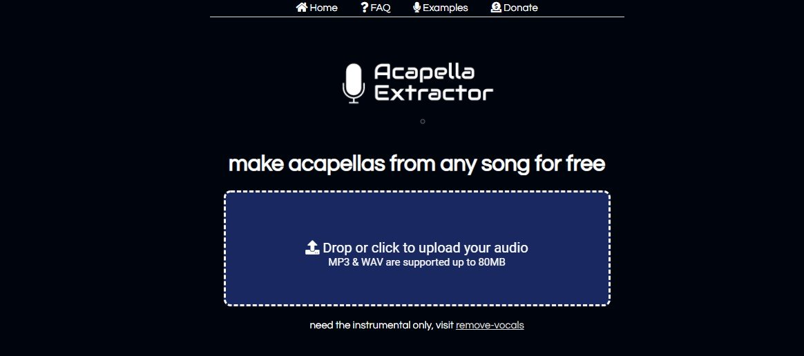 Acapella Extractor